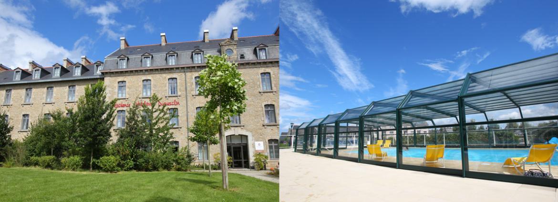 Résidence Duguesclin - Dinan - Vacancéole - Piscine extérieure couverte chauffée